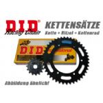 TRIDENT 750 1991-98: DID X-ring Chain & Sprockets Kit 530x114: Natural Steel Finish.